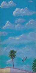 Suburban Flight | 8 x 16 | Original Acrylic on Canvas