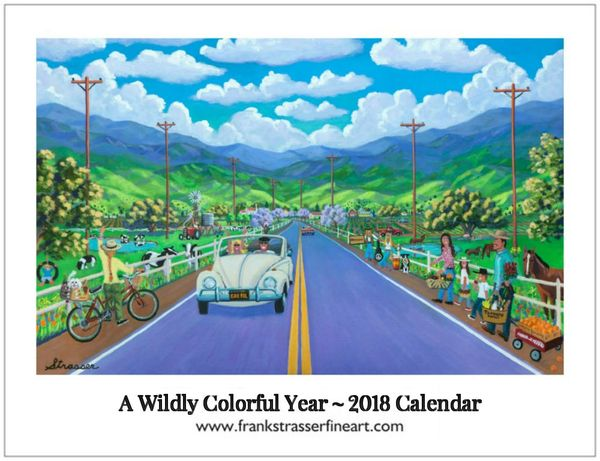 """(Set of 5) 2019 Wildly Colorful Calendars 