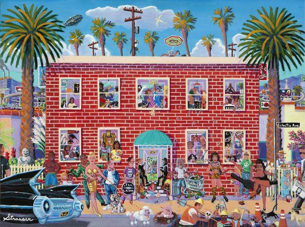 Eclectic Avenue | 30 x 40 x 1-1/2 | Canvas Print