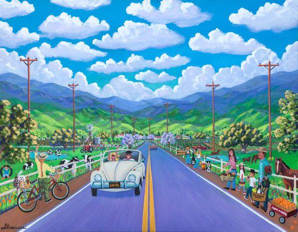 Road to Happy Destiny   12 x 16   Canvas Print