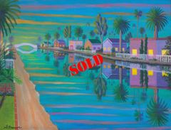 Evening Light on Retro Canal (SOLD)