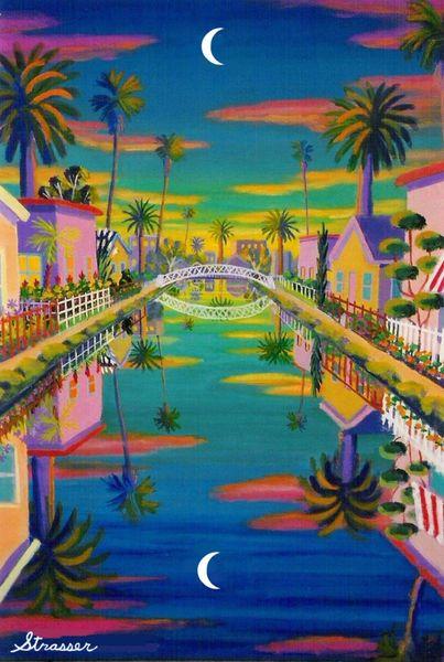 Twilight Canal | 20 X 30 | Canvas Print