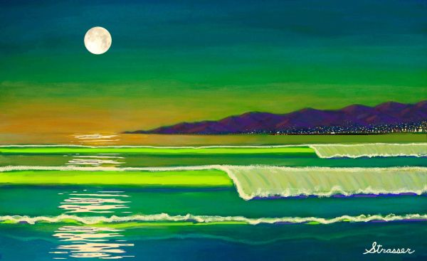 """Venice Moon - Enhanced Giclee - 24"""" x 36"""""""