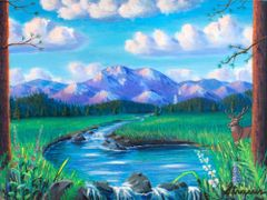 God's Country - Original 12 x 16 Acylic on canvas