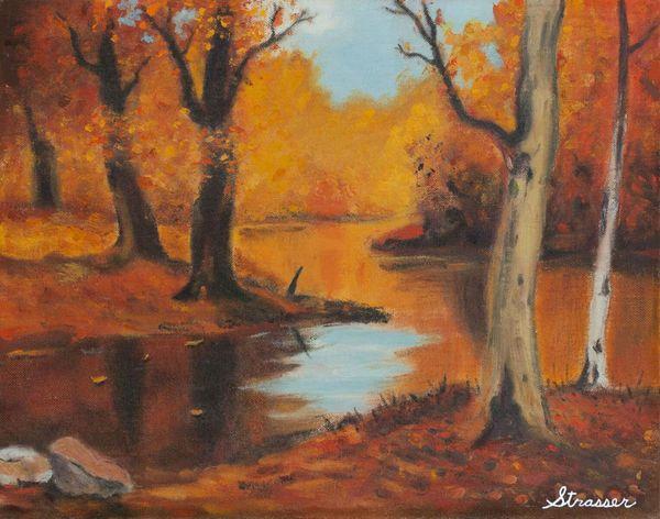 Autumn Woods | 12 x 16 | Canvas Print