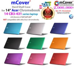 "mCover Hard Shell Case for 14"" Acer Chromebook 14 CB3-431 series Laptop (Model:CB3-431)"