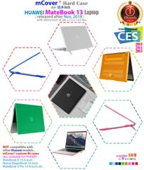 """mCover Hard Shell Case for Late-2018 13"""" Huawei MateBook 13 Series Laptop"""