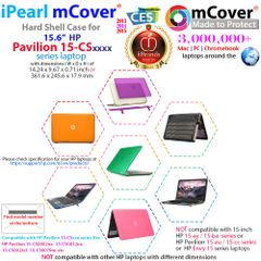 """mCover Hard Shell Case for 15.6"""" HP Pavilion 15-CSxxxx (15-CS0000 to 15-CS9999) Series (NOT Fitting 15-AY / 15-BA / 15-AU / 15-CC / 15-BS etc or Envy Series laptops) Notebook PC"""