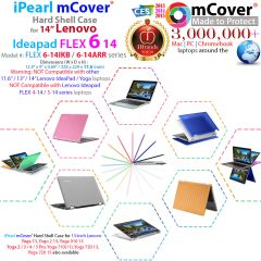 "mCover Hard Shell Case for NEW 14"" Lenovo Yoga 530 or Lenovo Ideapad Flex 6 14 (6-14IKB or 6-14ARR, NOT Compatible with Older 14"" Yoga 520/510 or Flex 14"" 4/5 Series) Laptop Computers"