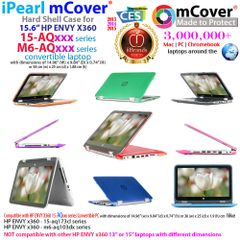 """mCover Hard Shell Case for 15.6"""" HP ENVY x360 15 Inch (39.6 cm) 15-aqxxx / 15-arxxx / 15-asxxx series Laptop (**Not for HP ENVY x360 15-bxxxx series, like 15-bp107nf, 15-bq052na etc**)"""