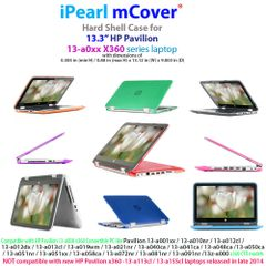 "mCover Hard Shell Case for 13.3"" HP Pavilion X360 13-a0xx series 2 in 1 Convertible Touchscreen laptops"