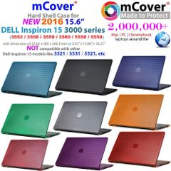 "mCover Hard Shell Case ONLY for 15.6"" Dell Inspiron 15 3000 Series (3552 / 3558 / 3559 / 3560 / 5558 / 5559 ONLY) Laptop"