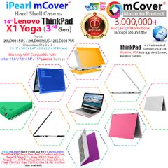 """mCover Hard Shell Case for 14"""" Lenovo ThinkPad X1 Yoga (3rd Gen) Laptop Computer"""