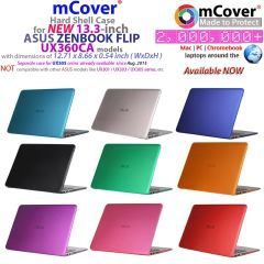 mCover Hard Shell Case for NEW 13.3-inch ASUS ZenBook UX360CA Flip laptop (**NOT for ASUS UX360UA**)