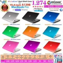 "mCover Hard Shell Case for Macbook Pro 15.4"" with retina display ( Model: A1398 without DVD player )"
