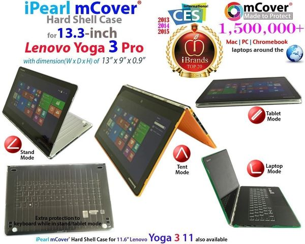 super popular c5ed8 45666 mCover Hard Shell Case for Lenovo YOGA 3 PRO 13.3-inch Convertible  Touchscreen Notebook (**Not compatible with ANY Yoga 2 13.3 inch model **)