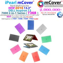 "mCover Hard Shell Case for 2016 13.3"" Dell Inspiron 13 7368 Series 2-in-1 Convertible Laptop (**Not for 7352/7359/7347 model**)"