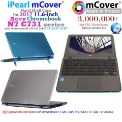"mCover Hard Shell Case for 11.6"" Acer N7 C731 series ChromeBook Laptop"