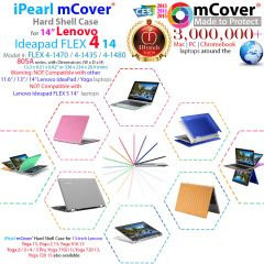 "mCover Hard Case for 14"" Yoga 510 or 14"" Lenovo Ideapad FLEX 4 14"" ( 4-1470 / 4-1435 / 4-1480) (**NOT compatible with newer 14-inch FLEX 5-1470 / Yoga 520 series **) laptop computers"