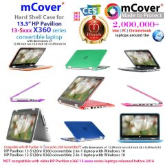 "mCover Hard Shell Case for 13.3"" HP Pavilion 13-Sxxx series (13-S120nr / 13-S128nr, etc ) X360 Convertible 2-in-1 laptops"