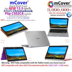 mCover light weight Hard Shell Case for Asus 12.5-inch Flip Chromebook
