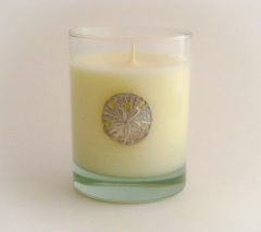 Soy Candle (14 oz.) with Pewter Sand Dollar