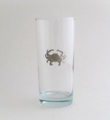 Beverage Glass with Pewter Crab