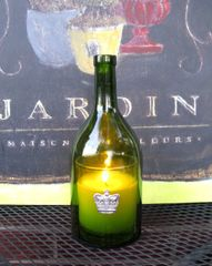 Wine Bottle Candle Cover with Pewter Crown