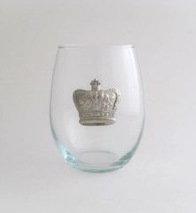 Stemless Wine Glass with a Pewter Crown