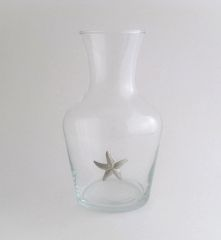 Wine Carafe with Pewter Starfish