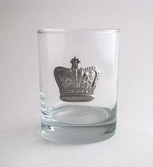 Rocks Glass with a Pewter Crown
