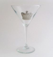 Martini Glass with a Pewter Crown