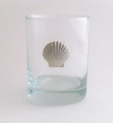 Rocks Glass with Pewter Clam