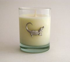 Soy Candle (14 oz.) with Pewter Alligator