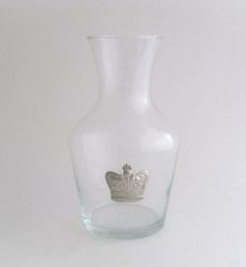 Wine Carafe with Pewter Crown
