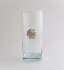 Beverage Glass with Pewter Clam