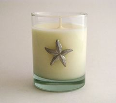 Soy Candle (14 oz.) with Pewter Starfish