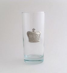 Beverage Glass with Pewter Crown