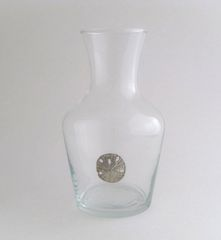 Wine Carafe with Pewter Sand Dollar