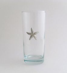 Beverage Glass with Pewter Starfish