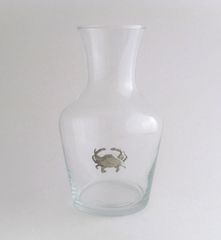 Wine Carafe with Pewter Crab