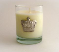 Soy Candle (14 oz.) with Pewter Crown