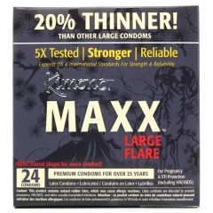 Kimono Maxx Large Flare Condoms in 24 Pack