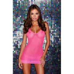 Pink Lace Mini Dress in OS