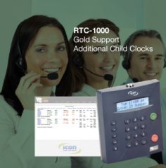 RTC-1000 Gold Child Clock Support