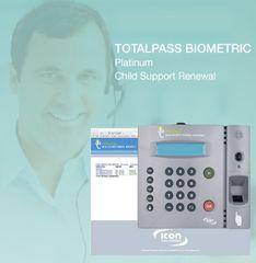 TotalPass Biometric Platinum Child Clock Support