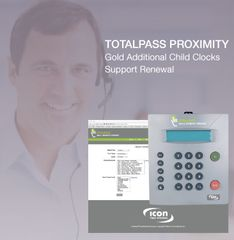 TotalPass Proximity Gold Support Child Clock