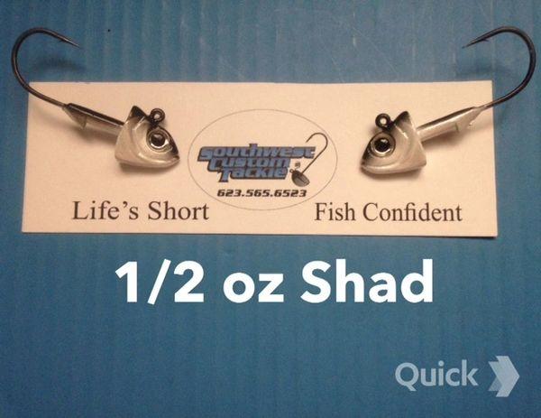BLade-Runnner Tackle SwimBait Heads 2 Pack Shad 1/4-4oz