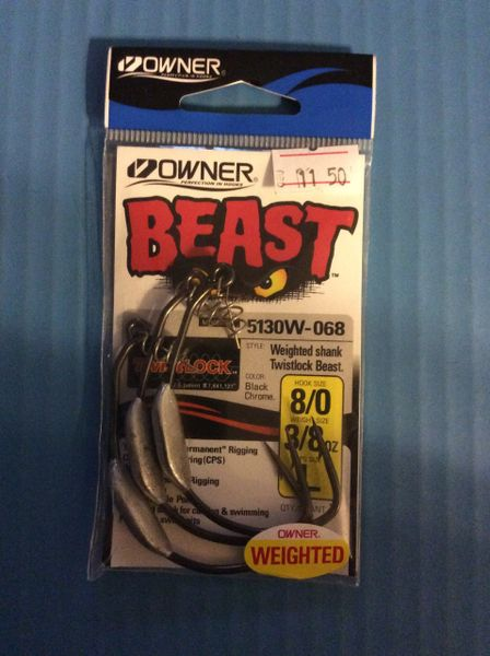 Weighted Owner Beast Hooks 8/0 3/8oz