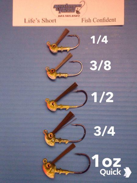 Mad Shad Weedless Jigs 1/4-1.5oz